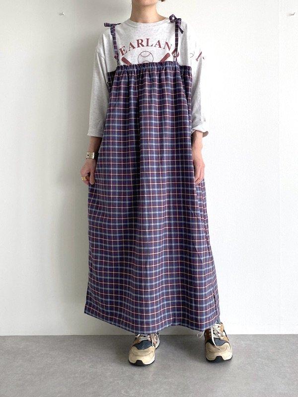 【SALE】Remake  T-shirt  cami  dress   /  リメイクTシャツ キャミワンピース (Oatmeal.PPL)