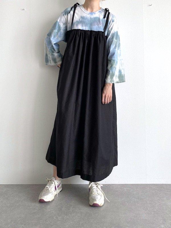 【SALE】Remake  T-shirt  cami  dress   /  リメイクTシャツ キャミワンピース (GRN/tie-dye)