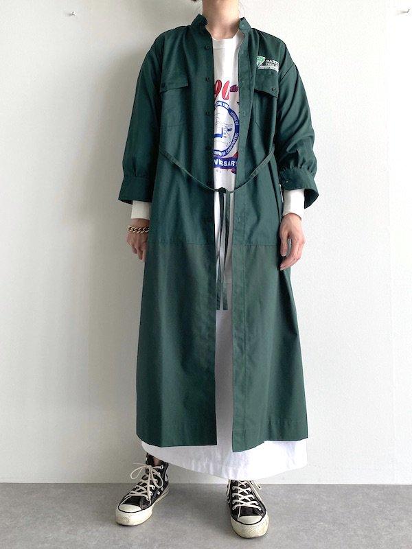 Remake work shirt dress / リメイクワークシャツワンピース ( D.grn )
