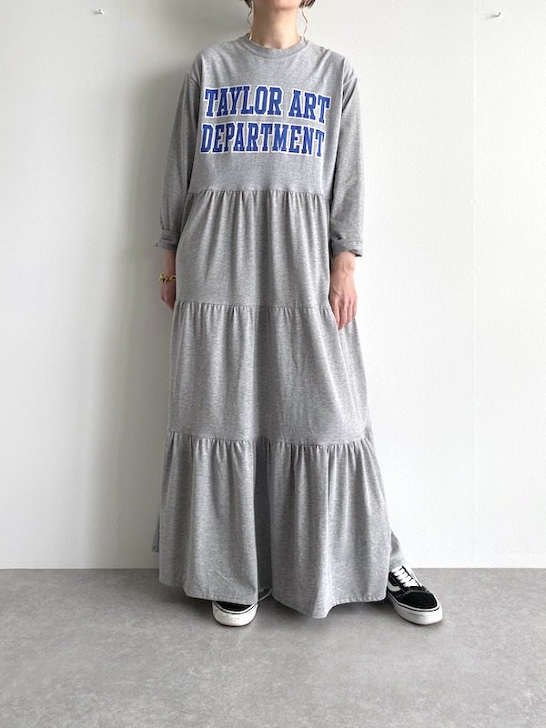 Remake tiered maxi dress  / リメイクティアードマキシワンピース(GRY)