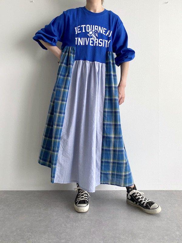 Remake asymmetry long dress  / リメイクアシンメトリーロングワンピース(BL.STP)
