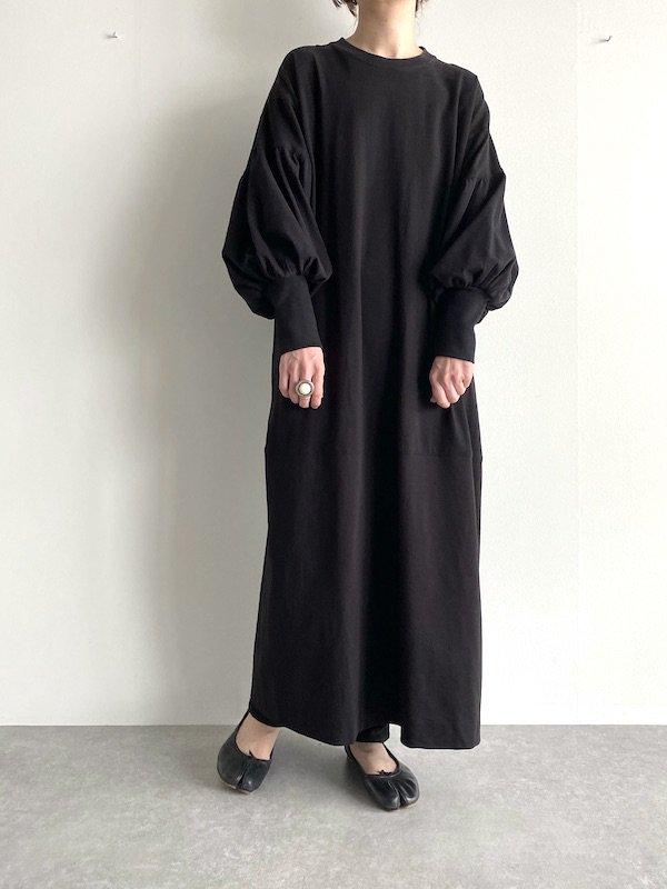 Remake long straight dress  / リメイク ロングストレート ワンピース(BK-Solid)