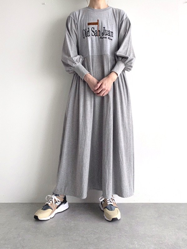Remake loose dress  / リメイクルーズワンピース (GRY)