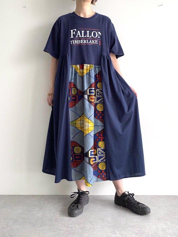 Remake asymmetry long dress  / リメイクアシンメトリーロングワンピース(NV)