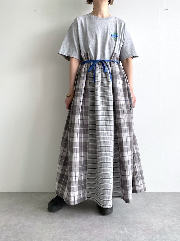 Remake asymmetry maxi dress  / リメイクアシンメトリーマキシワンピース(L.GY)