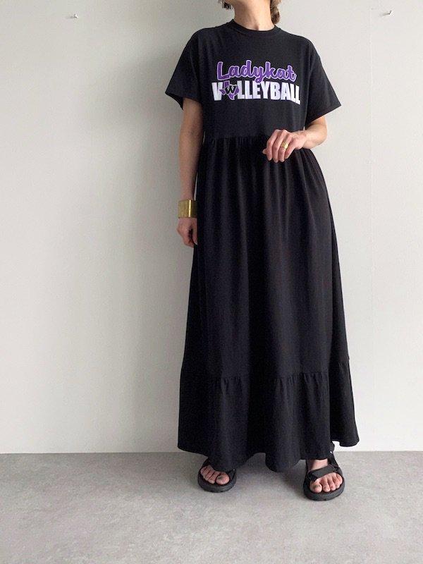 Remake flare maxi dress  / リメイクフレアマキシワンピース(BK)