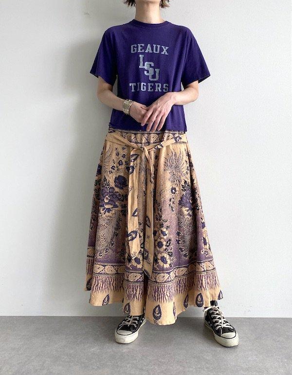 Remake Indian maxi dress  / リメイクインド綿マキシワンピース(PPL)