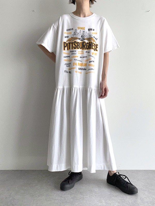 Remake  long loose dress / リメイク ロング ルーズ ワンピース (white)
