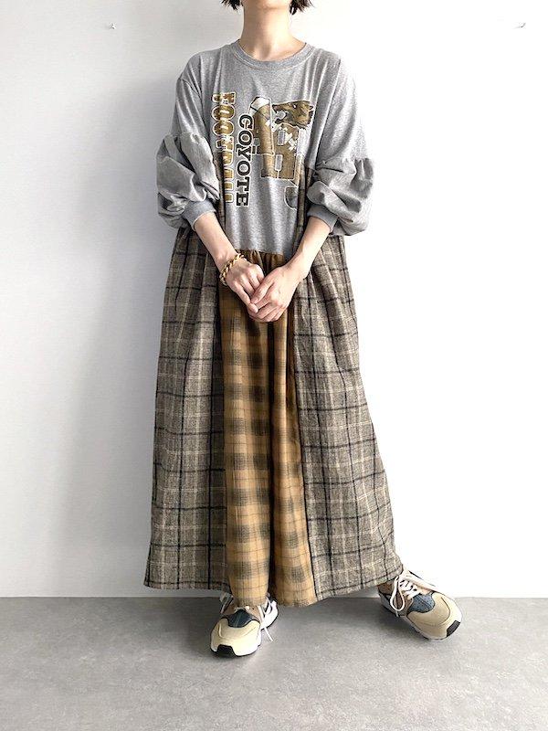 Remake asymmetry dress  / リメイクアシンメトリーワンピース(GY-check)