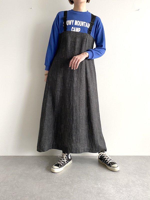 Remake  belt sweat dress  /  リメイク ベルトスウェットワンピース (BL)