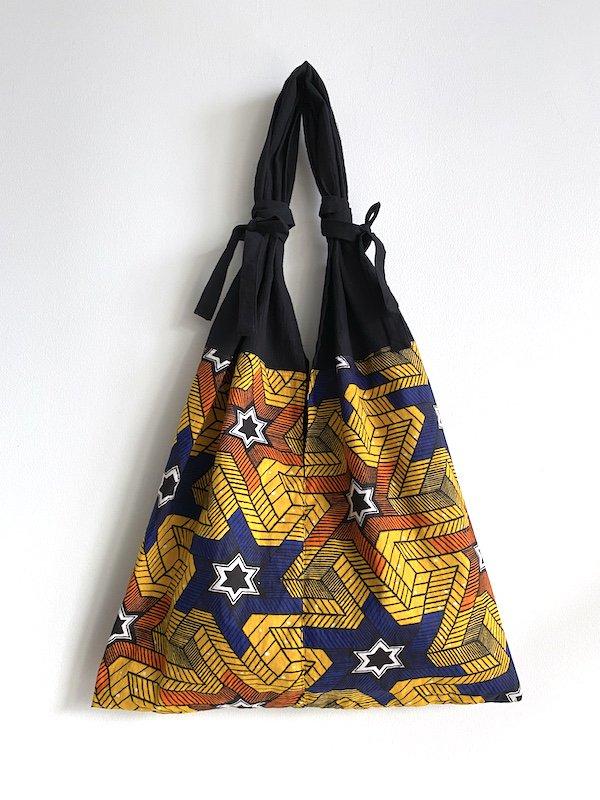 KICI African cotton bag  / アフリカンコットンバッグ (星)