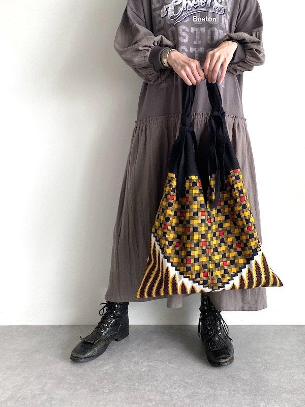 KICI African cotton bag  / アフリカンコットンバッグ (Block)