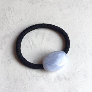 天然石のヘアゴム ブルーレースアゲート