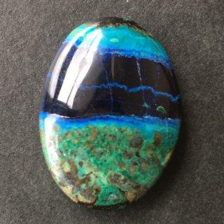 J6《自然が生み出した絵画》アズロマラカイト20×14×4.5mm 高品質天然石ルース 1点もの