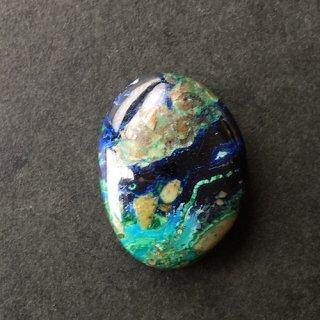 J7《自然が生み出した絵画》アズロマラカイト20×14×4.5mm 高品質天然石ルース 1点もの