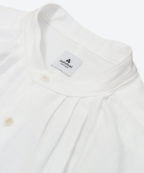 band collar tuck shirt ( ashuhari )