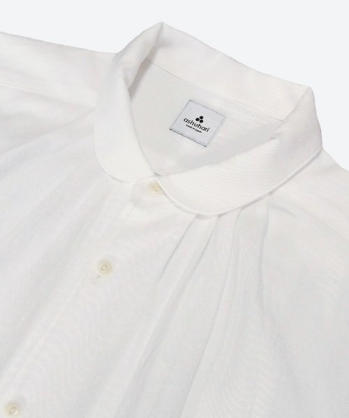 <img class='new_mark_img1' src='https://img.shop-pro.jp/img/new/icons59.gif' style='border:none;display:inline;margin:0px;padding:0px;width:auto;' />round collar tuck shirt ( ashuhari )
