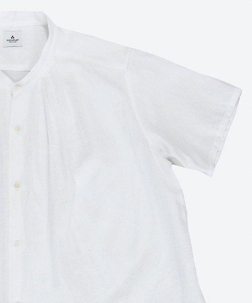 <img class='new_mark_img1' src='https://img.shop-pro.jp/img/new/icons59.gif' style='border:none;display:inline;margin:0px;padding:0px;width:auto;' />band collar tuck short sleeved shirt  ( ashuhari )