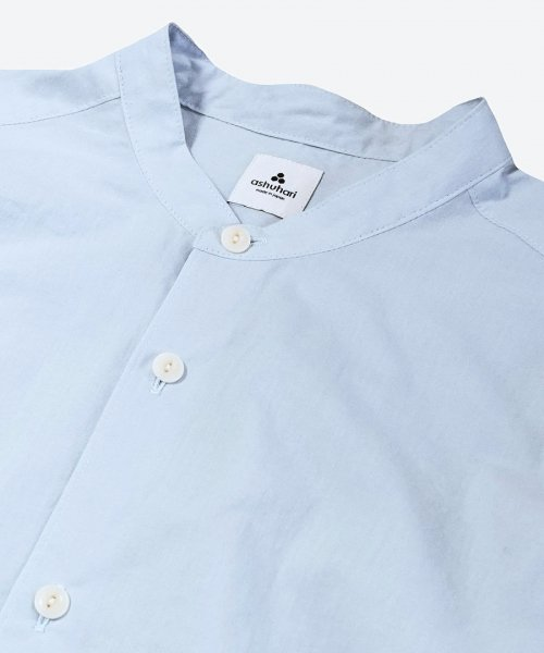<img class='new_mark_img1' src='https://img.shop-pro.jp/img/new/icons5.gif' style='border:none;display:inline;margin:0px;padding:0px;width:auto;' />plat air in band collar Aline shirt ( ashuhari )