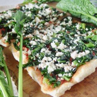 ギフトに嬉しい自然食品♪有機野菜の天然酵母ピザ<綾ホウレン草>