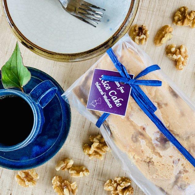 グルテンフリー&乳製品・白砂糖不使用 米粉ケーキ<無添加クルミ>