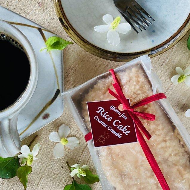 グルテンフリー&乳製品・白砂糖不使用♪米粉ケーキ<ココナッツクランブル>