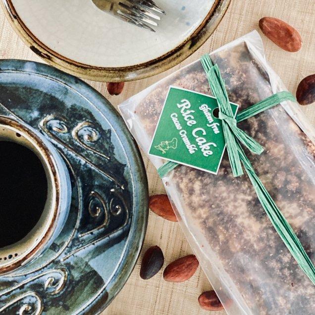 グルテンフリー&乳製品&白砂糖不使用♪米粉ケーキ<ココアクランブル>