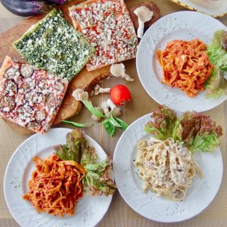 手作りパスタ&有機野菜の天然酵母ピザセット<パスタ3食、ピザ3食入>