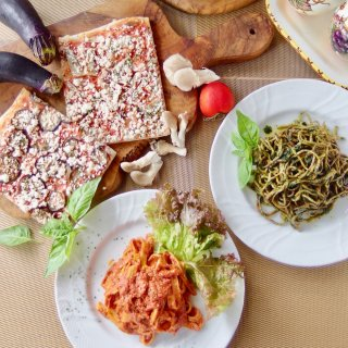 冷製パスタ&有機野菜の天然酵母ピザセット<パスタ2食、ピザ2食入>