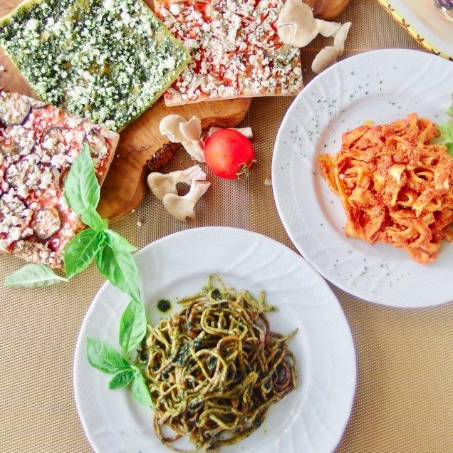 冷製パスタ&有機野菜の天然酵母ピザセット<パスタ2食、ピザ3食入>