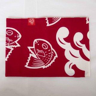 ブックカバー鯛赤