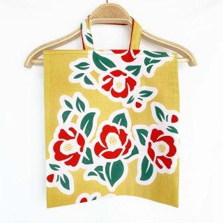 手拭い手提げ袋椿黄色