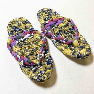 布ぞうり紫