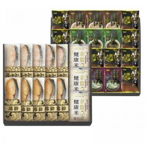 鮭乃家 そのまま食べれる鮭切り身 フリーズドライと金賞健康米セッ