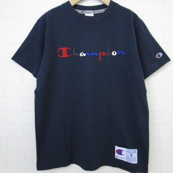 Champion - トリコロール刺繍Tシャツ