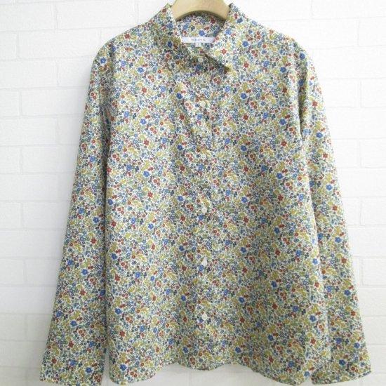 SHETH - リバティ柄チビ衿レギュラーシャツ