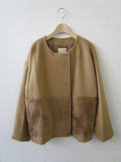 Crespi - ビーバーファー切り替えジャケット