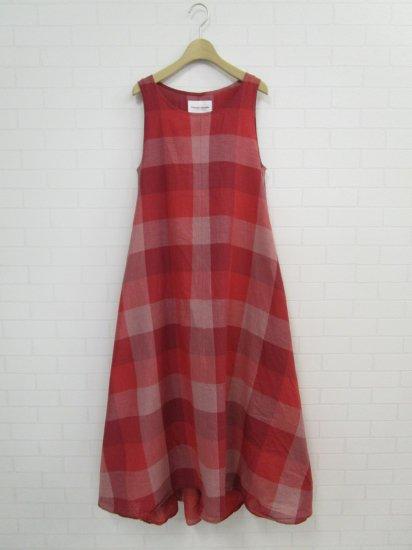 Vincent et Mireille - ビックチェックタンクドレス