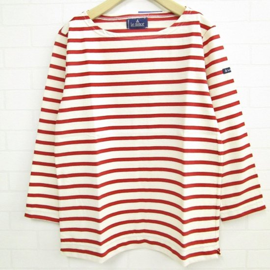 Le minor - 定番 薄手8分袖 総ボーダー バスクシャツ(LEF995002)正規取扱商品