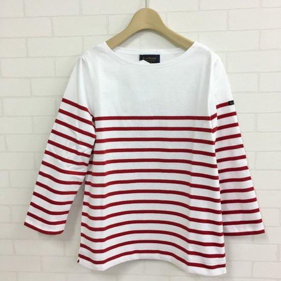 Le minor - 定番 薄手7分袖 パネルボーダー バスクシャツ(正規取扱商品)