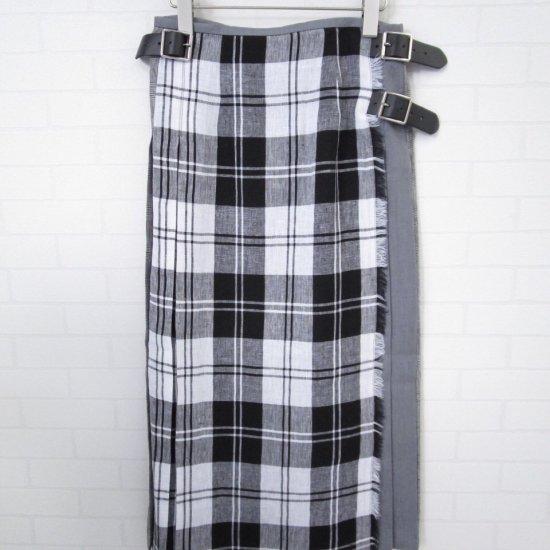 O'neil of Dublin - リネンクレージーパターンキルトスカート 正規取扱商品