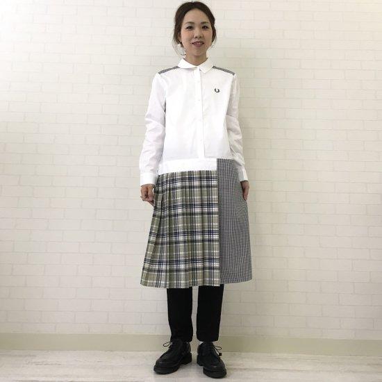 FRED PERRY - ミックスパネルシャツドレス