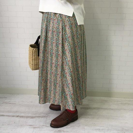 J.sloane - リバティ前ボタンスカート(リバティコレクション)