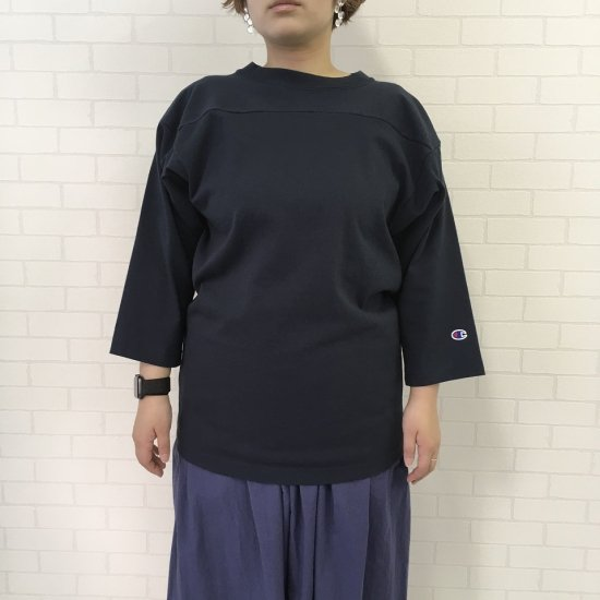Champion - 7分袖フットボールTシャツ