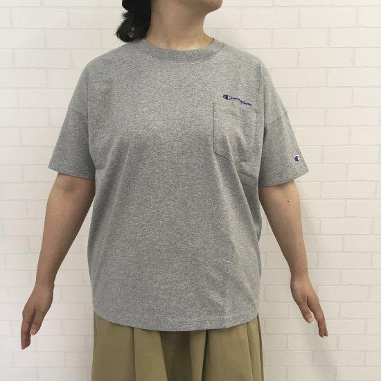 Champion - ロゴ刺繍ポケット付ビックTシャツ(C3K357)