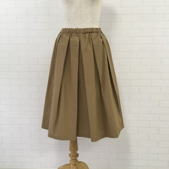 Crespi - 67cm丈コットンナイロン グログランプリーツスカート