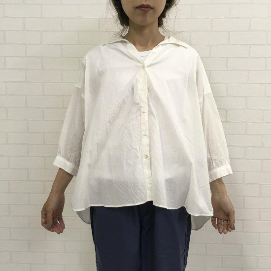 Sheth - ヴィンテージコットンの涼しいホワイトビッグシャツ