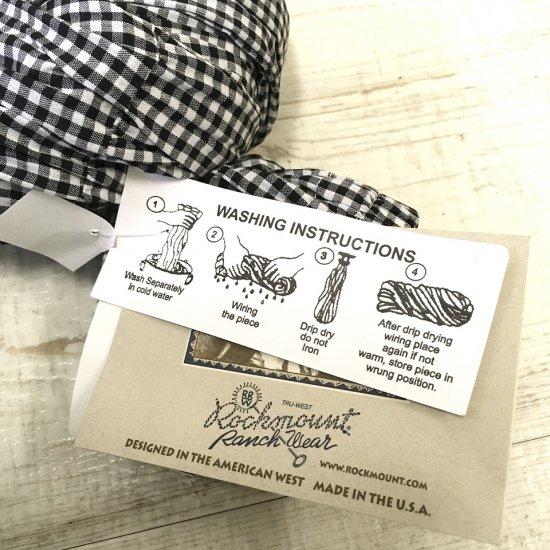 Rockmount - コットンギンガムチェック ティアードスカート(small black)