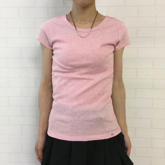 PONT DE CHALONS - フライス・フレンチスリーブ バレエネックTシャツ PK7107