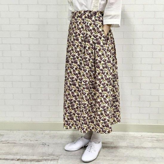 NOMBRE IMPAIR - back cloth flower タックスカート